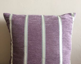 Lavender and Silver Stripe Cushion