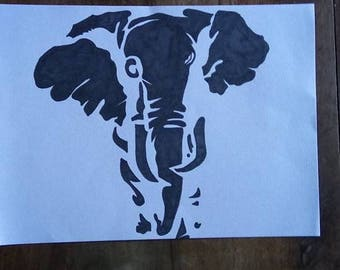 elephant on a white background designs