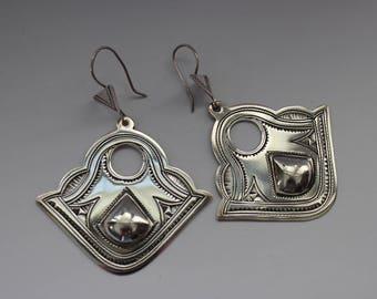 Silver Tuareg Fan Earrings