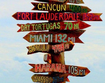 Set of 20 Directional Signs Tiki . Fairy Tale Destination---Directional Sign . Custom . Tiki . Arrows . Road Sign Act