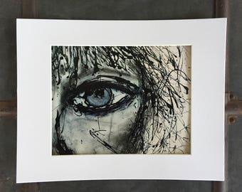 Art Print, wall art, abstract art, contemporary art, black and white art, emotional art, inspirational art, eye art, people art, eye artwork