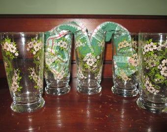 Libbys Glasses Libbys Floral Glasses Libbys Flower Glasses