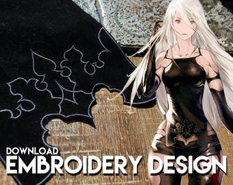 A2 nier automata cosplay costume embroidery