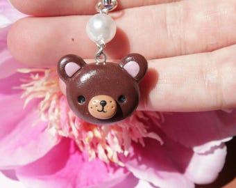 20% OFF SALE bear charm, kawaii bear charm, cute bear charm, polymerclay charm, handmadecharm, clay charm, bear charm