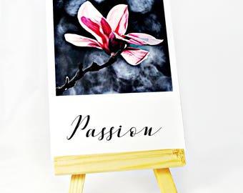 Passion Inspirational Card- Purple Lily Magnolia