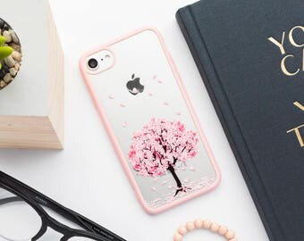 Pink Cherry Blossom iPhone Case - iPhone 7 Case, iPhone 7 Plus Case, iPhone 6s Case, iPhone 6s Plus Case, iPhone 6 Case, iPhone 6 Plus Case