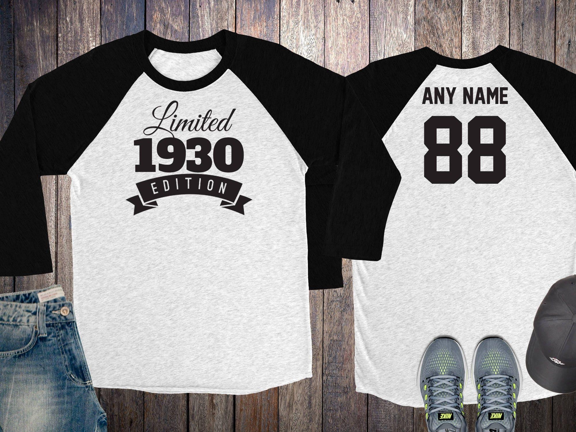 Women Gift Idea Limited Edition Birthday Celebration 88 Year Old Raglan Baseball Tee Shirt 1930 Gallery Photo