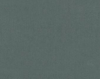 Essex Linen in Iron from Robert Kaufman quilting apparel grey gray fabric material by the yard or metre E014-408