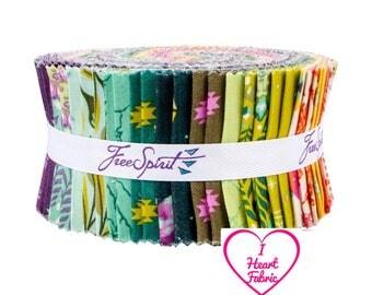 Tula Pink - Spirit Animals Design Roll - jelly roll 2.5 inch x 44 inch strips quilting cotton freespirit precut