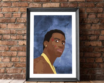 Poster Gucci Mane, Posters and Prints, Hip Hop Portrait, Gucci Mane, Poster with Rapper, Hip Hop Poster, Wall Decor, Gucci Mane Print, Pop