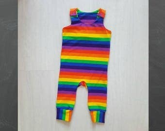 Baby romper, toddler romper, Rainbow romper, rainbow baby,  baby dungarees, toddler dungarees, baby girls clothes, Baby boys clothes,