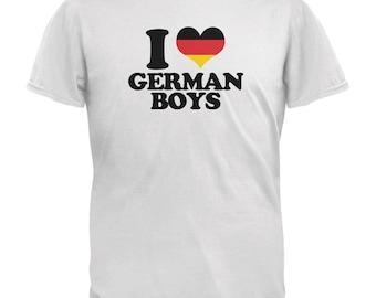 Oktoberfest I Heart German Boys White Youth T-Shirt