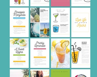Printable Recipe Template for Adobe InDesign | Instant Download