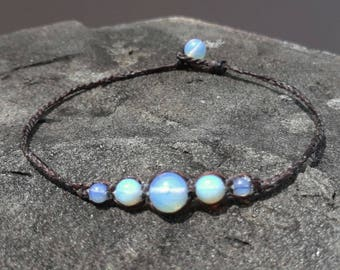 Opal anklets,stone anklets,white anklets,fashion anklets for Men and Women