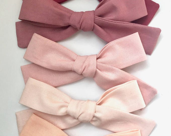 Sewn Retro bow || Multiple colors