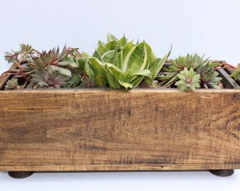 Rustic Planter, Garden Box, Storage, Wooden Box, Herb Box, Shabby Chic Box, Succulent Box, Farm Box