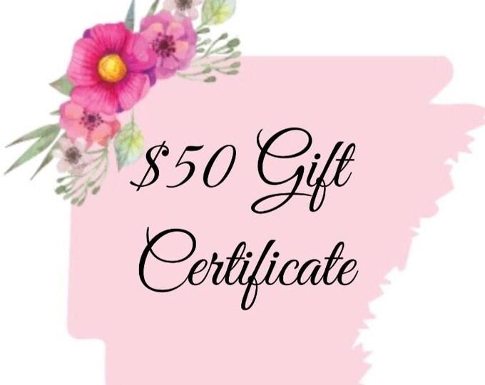 50 Dollar Gift Certificate