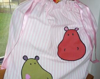 BAG CHILD FUNNY HIPPOS