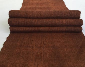 Hmong natural hemp fabric,vintage  hemp hand dyed Hmong hill tribe -Bed runner ,Table runner