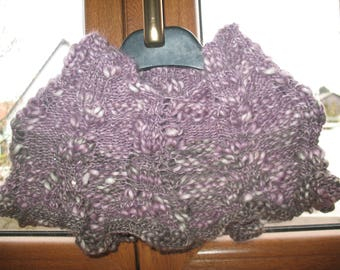 SNOOD to ENFILER covers shoulders to put on fancy stitch