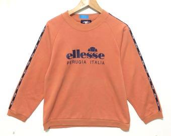 Vintage Ellese Italy Big Logo Crewneck Sweatshirt Sided Taped