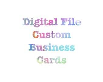 Digital Business Cards, Custom Digital Business Cards, Print My Own Business Cards, Digital Cards, Digital Calling Cards