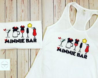 Food and Wine Shirts, Minnie Bar, Epcot, Food and Wine, Disney Drinking, Drinking Shirts, Drink Drunk Drank, Disney Shirts