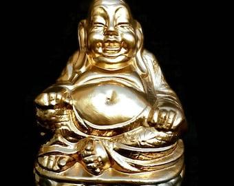 Vintage Gold Buddha Figurine // Buddha Statue // Buddhist Statue // Buddhist Gift // Zen Buddha // Buddha Sculpture