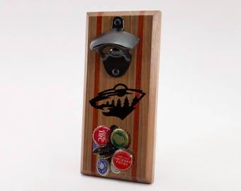 Minnesota Wild Magnetic Bottle Opener
