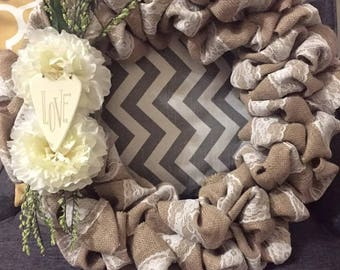 Burlap Everyday Wreath
