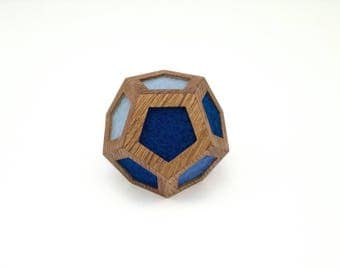 Dodecahedron Wooden Wool, Dodecahedron Geometry,  Golden Ratio Geometry, Sacred Geometry, Platonic Solid, Modern sculpture, Needle Felted