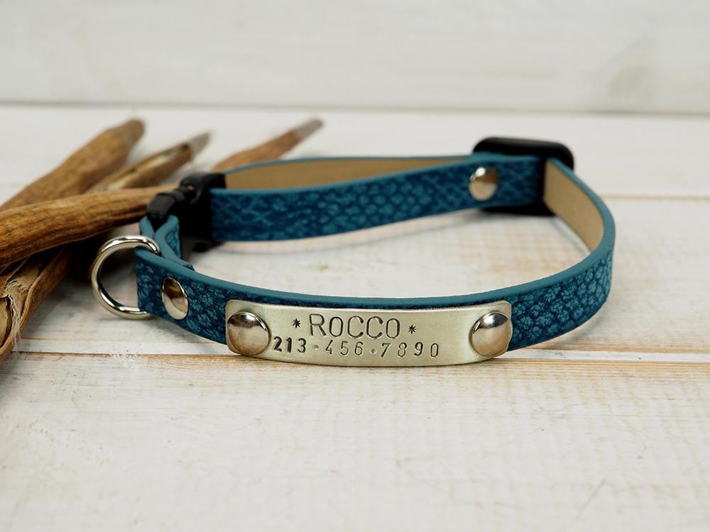 cat collar cat collar personalized dog collar snake skin. Black Bedroom Furniture Sets. Home Design Ideas