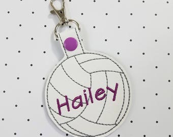 Personalized Name Tag-Volleyball Backpack Name Tag-Volleyball Coach Gift-Personalized Volleyball Gym laptop Bag Tag-Personalized Key Chain