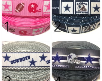 Dallas Cowboys Ribbon, NFL Ribbon, Cowboys grosgrain Ribbon