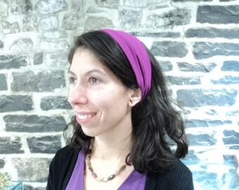 Extra-large fuja pink headband. Stretch headband. Yoga. Accessory for girls or women hand.