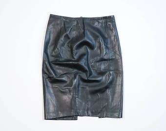 VERSACE - Leather skirt