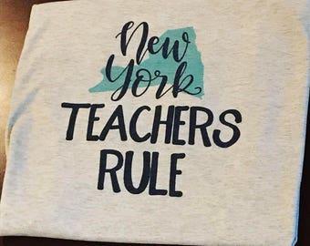 State Teacher Tee,  grade level teacher shirt,  funny teacher shirt,  teaching shirt,  teacher style shirt,   first day of school shirt