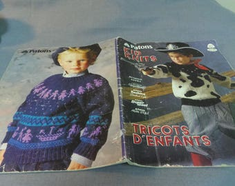 Knitting Patterns, Kid Knits by Patons, Book 517, 12 Designs, 1987 Sweaters for Children