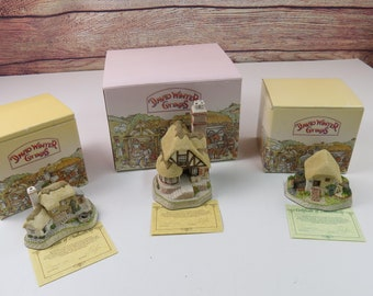 David Winter Collector's Guild Cottages from the Studios and Workshops of John Hine, Ltd. Lot of 3