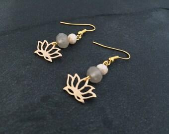 Earrings Zen pastel - gold