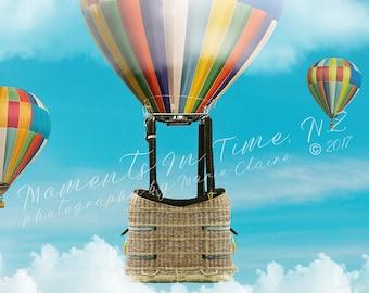 MIT Hot Air Balloon and Basket Digital Background