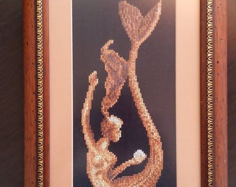 Embroidered Picture Mermaid with Amber