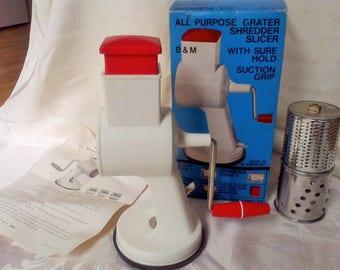 Food chopper,.Home canning, food processer,Grater, shredder, slicer, made in West Germany