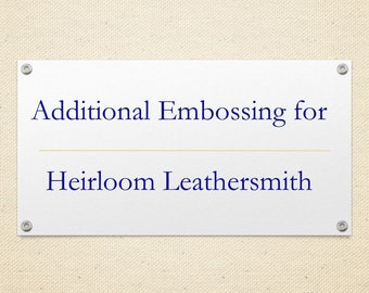 Upgrade - additional embossing