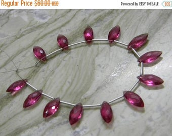 on sale AAA super fine quality pink hydro quartz  faceted briolette marquise 13 pecs size 6x15 mm approx