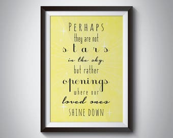 Perhaps they are not stars - Print