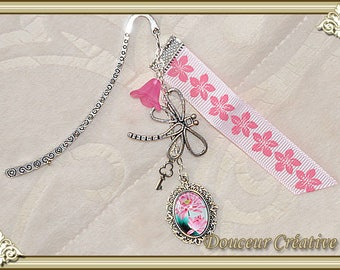 Bookmark pink flowers 305012