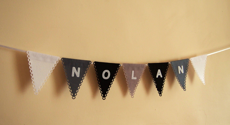 Personalised bunting, personalized felt banner, custom name garland ...