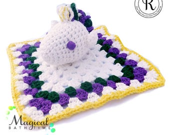 Unicorn Bath Scrubby - Purple Unicorn bath toy - washcloth