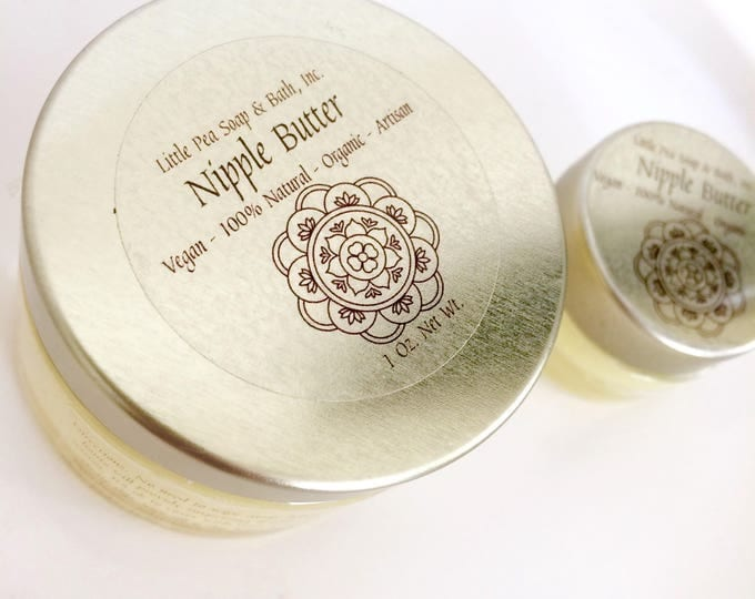 Featured listing image: Nipple Butter - Vegan - 100% Natural - Organic - Edible - Breastfeeding - Nursing Oils